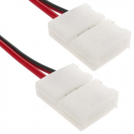 Empalme a presión con cable para tira de LED monocromo 8mm