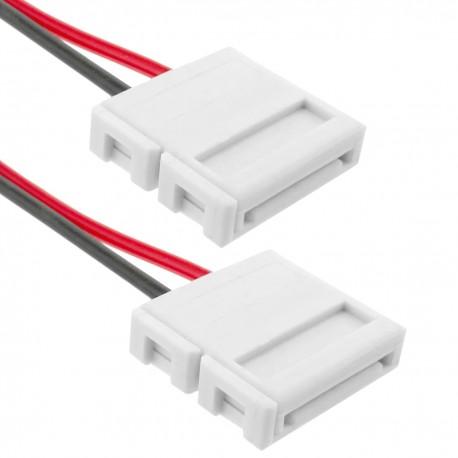 Empalme a presión con cable para tira de LED monocromo 12mm