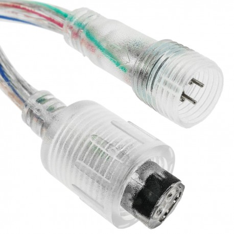 Conexión IP68 para tira de LEDs RGB 4P