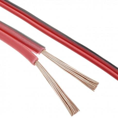 Cable de audio para altavoces rojo y negro de 2x0,75 mm² Bobina de 25m