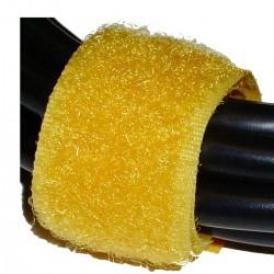 Cinta adherente ordena cables 20x160mm 100 unidades amarillo