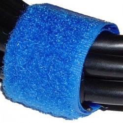 Cinta adherente ordena cables 20x160mm 100 unidades azul
