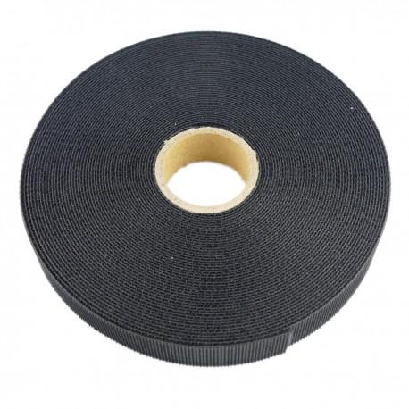 Bobina de cinta adherente de 15mm x 10m de color negro