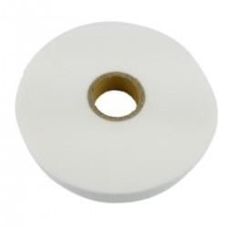 Bobina de cinta adherente de 15mm x 10m de color blanco