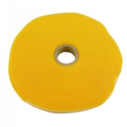 Bobina de cinta adherente de 15mm x 10m de color amarillo