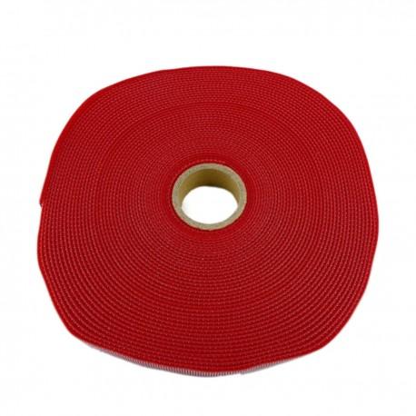 Bobina de cinta adherente de 15mm x 10m de color rojo
