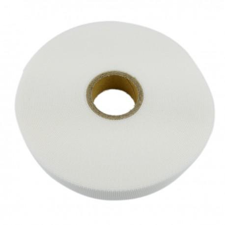 Bobina de cinta adherente de 20mm x 10m de color blanco