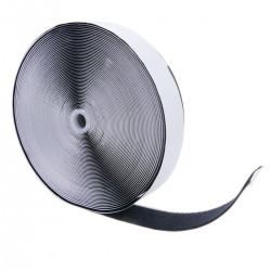 Bobina de cinta adherente adhesiva de 50mm x 25m de color negro cara de fijación