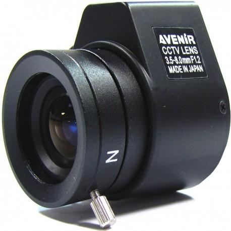 Objetivo varifocal electrónico de 3,5 mm a 8,0 mm y F1,2
