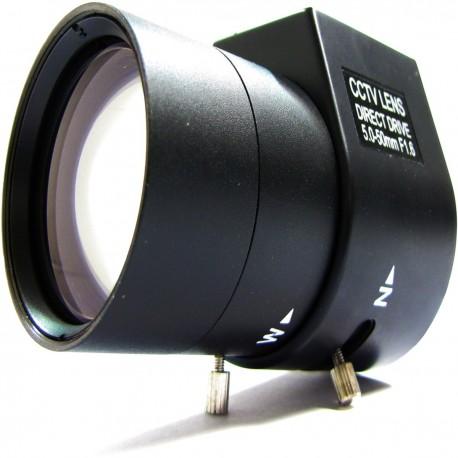 Objetivo varifocal electrónico de 5,0 mm a 50,0 mm y F1,6