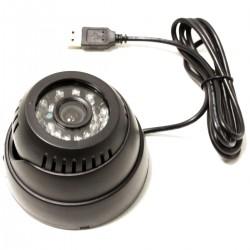 Cámara de vídeo-vigilancia con memoria interna y conexión USB y visión con infrarrojos