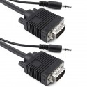 Super cable VGA con jack de audio de 3,5 mm macho macho de 20 m
