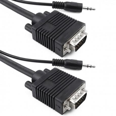 Super cable VGA con jack de audio de 3,5 mm macho macho de 30 m