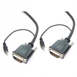Super cable DVI-D con jack de audio de 3,5 mm macho macho de 1,8 m