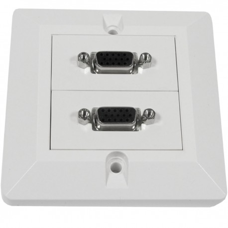 Caja pared canaleta 80x80 2 VGA tipo A
