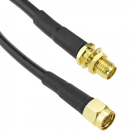 Cable coaxial HDF200 SMA-macho a SMA-hembra 5m