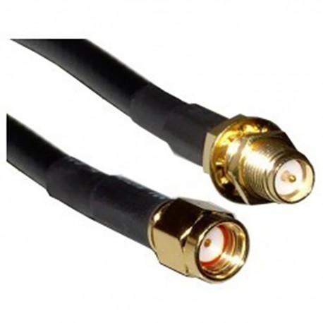 Cable coaxial HDF200 rSMA-macho a rSMA-hembra 1m