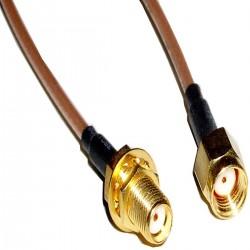 Cable coaxial RG316 SMA-hembra a rSMA-macho 20cm