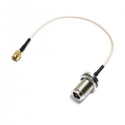 Cable coaxial RG316 SMA-macho a N-hembra 20cm