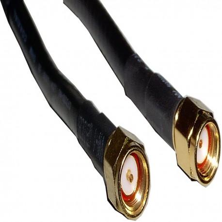Cable coaxial HDF200 SMA-macho a rSMA-macho 1m