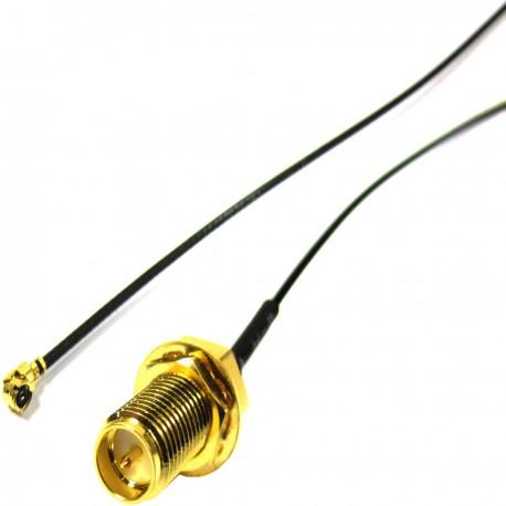 Cable 1.13mm 20cm (U.FL-Macho/rSMA-Hembra)