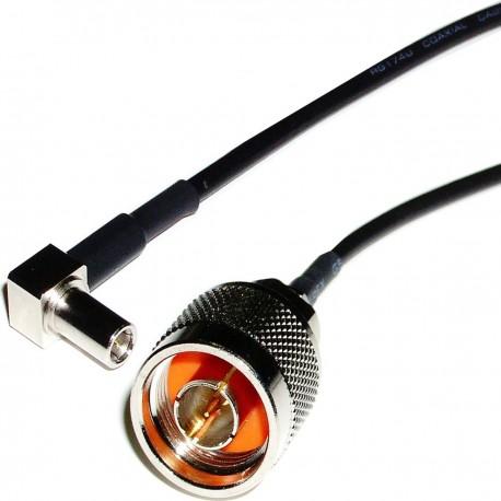 Cable RG-174RF 20cm (MS-147-C-LP-Macho/N-Macho)