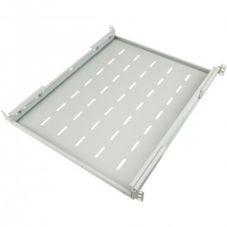 "Bandeja rack 19"" ajustable en profundidad 550 mm 1U blanco"