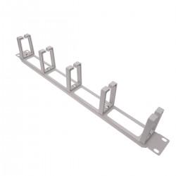 """Panel guíacables para armario rack 19"""" 1U con 5 anillas para gestión de cables blanco"""