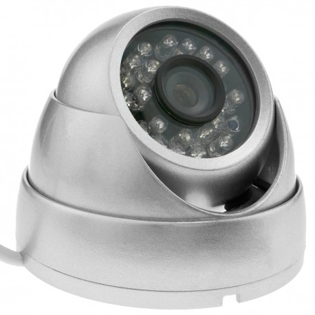 Cámara domo 700TVL metálica 24 LED 70x93mm