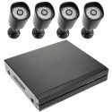 Kit NVR DVR Digital Network Video Recorder para vídeo vigilancia CCTV con 4-cámaras PoE