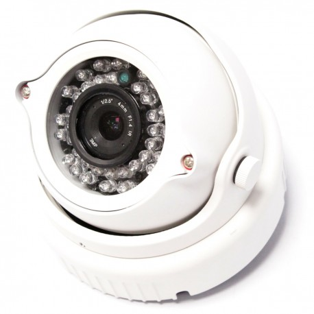 Cámara CMOS NVR H.264 IP 1Mpixel domo 123x87mm Network Video Recorder CCTV