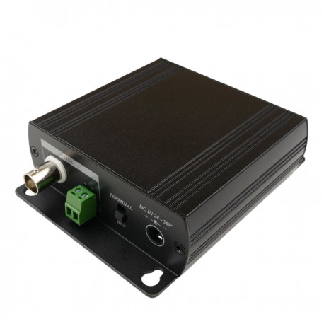 Extensor ethernet TCP/IP y alimentación por cable coaxial RG6U RG59U