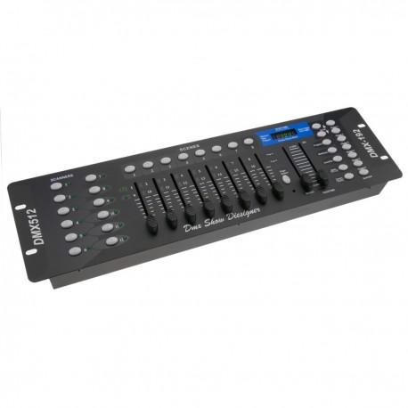 Controlador DMX 512 de 8 deslizadores 3U