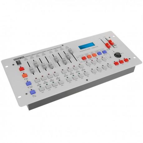 Controlador DMX 512 de 8 deslizadores 5U