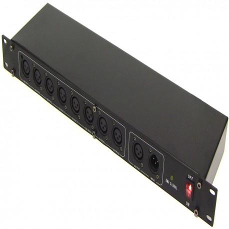 Multiplicador DMX 512 de 8 puertos 1U