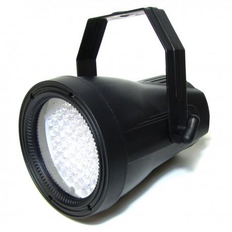 Foco PAR38 de 60 LEDs de 10mm negro