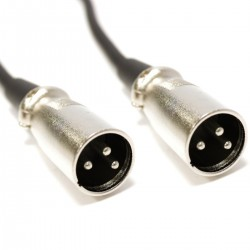 Cable DMX DMX512 XLR 3pin macho a XLR 3pin macho 1m