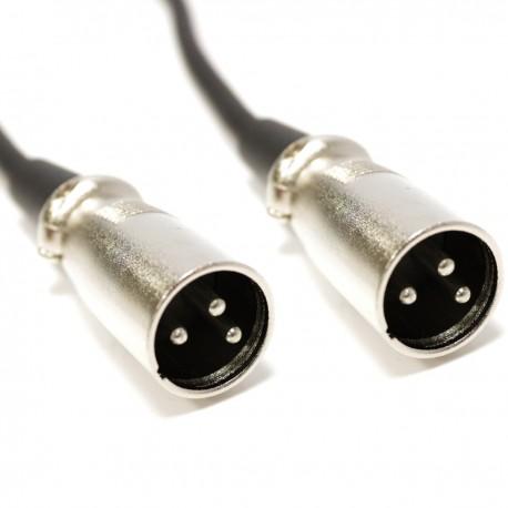 Cable DMX DMX512 XLR 3pin macho a XLR 3pin macho 1m