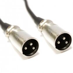Cable DMX DMX512 XLR 3pin macho a XLR 3pin macho 5m