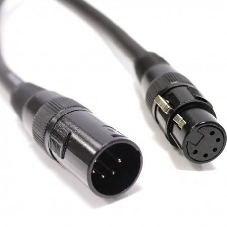 Cable DMX DMX512 XLR 5pin macho a XLR 5pin hembra 50m