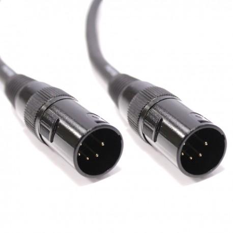 Cable DMX DMX512 XLR 5pin macho a XLR 5pin macho 2m