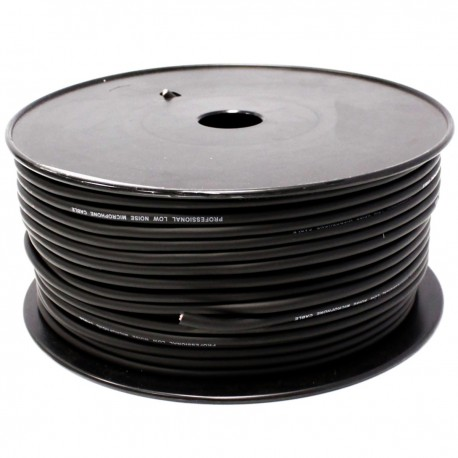 Bobina cable audio micrófono 2pin 100m