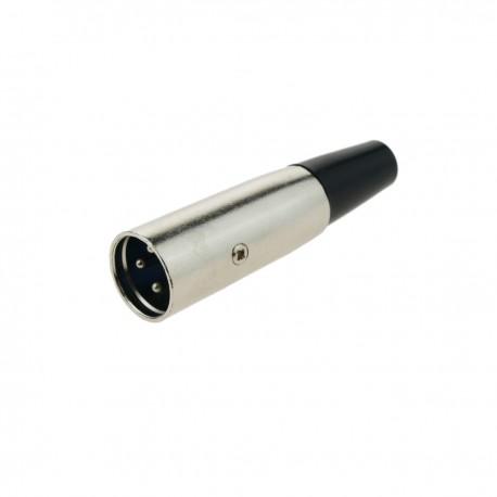 Conector XLR3 3-pin macho metálico