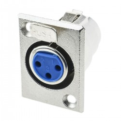 Conector XLR3 3-pin hembra metálico para chapa