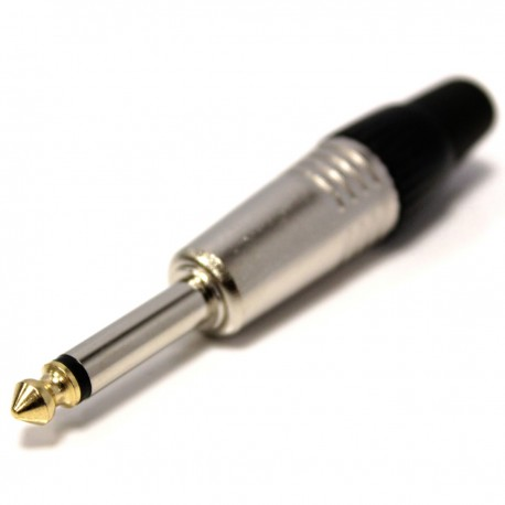 Conector de audio jack 6.3mm macho mono metal