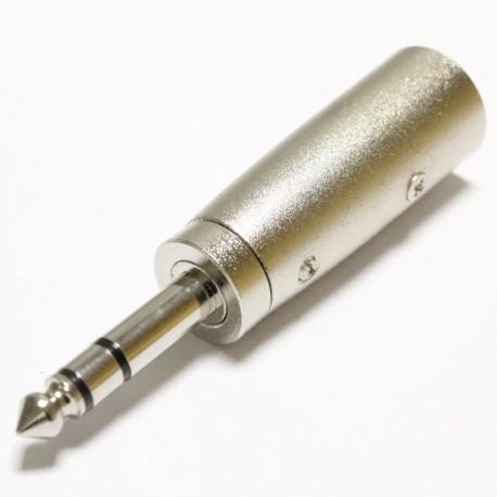 Adaptador de audio XLR de 3 pines macho a TRS jack 6.3mm macho