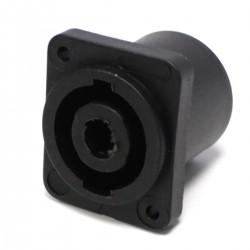 Conector speakon NL4 4polos hembra chapa plástico