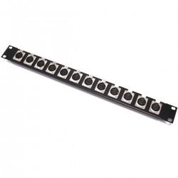 Patch panel rack19 12-port XLR3-hembra 1U