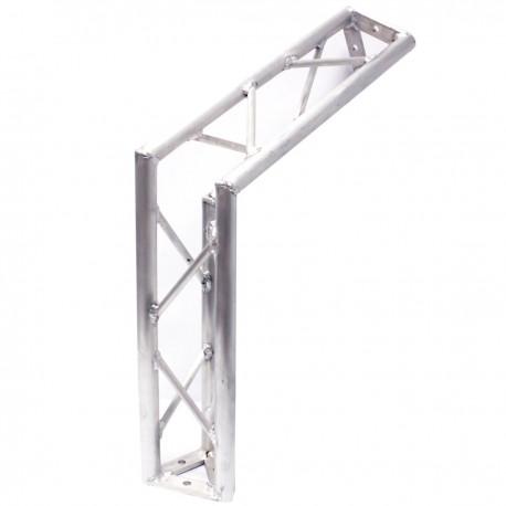 Truss triangular de aluminio plata 150mm ángulo 120-grados