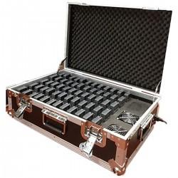 Cargador portátil para 60 audioguía inalámbrico tipo maleta